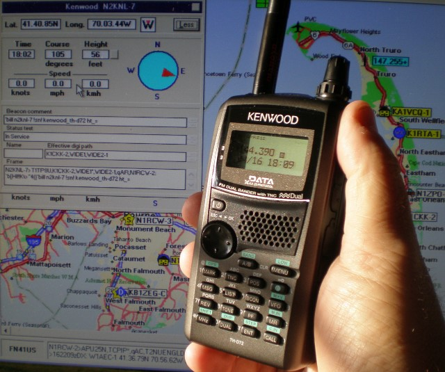 KENWOOD TH-D72A Handheld 2M/70CM APRS/GPS