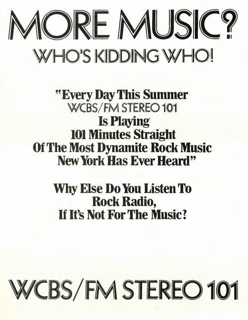 WCBS-FM 1970 Ad