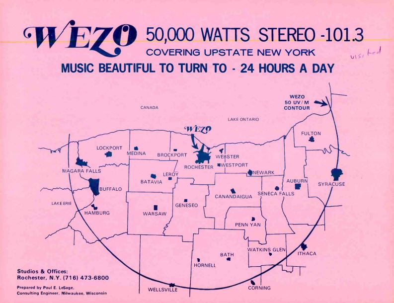 WEZO 101.3 Rochester Coverage-Map