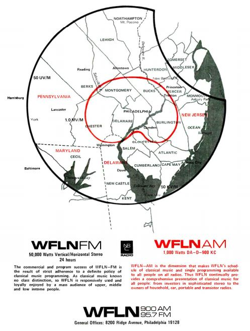 WFLN AM FM Coverage Map