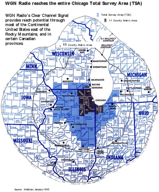 WGN 720 Chicago Coverage Map