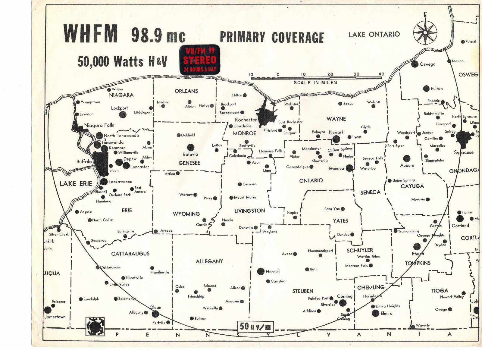 WHFM-Coverage Map
