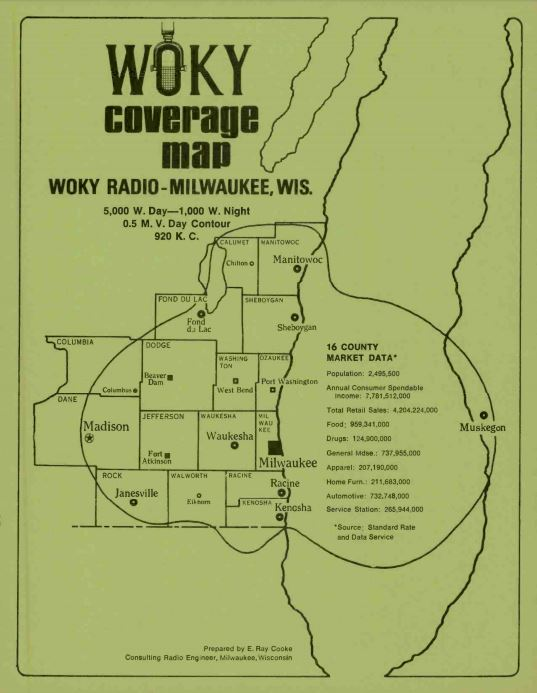 WOKY 920 Milwaukee Coverage Map