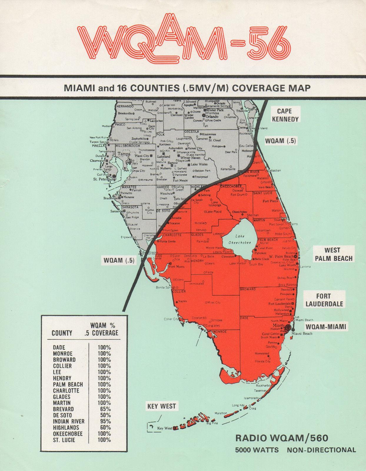 WQAM 560 map
