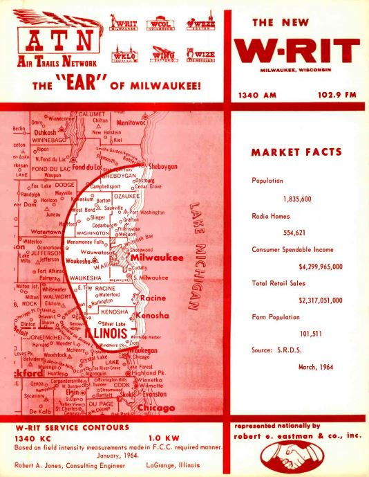 WRIT Milwaukee Coverage Map