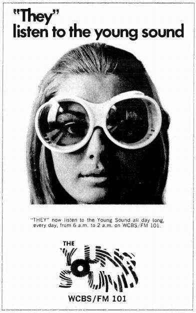 WCBS-FM 1967 Ad