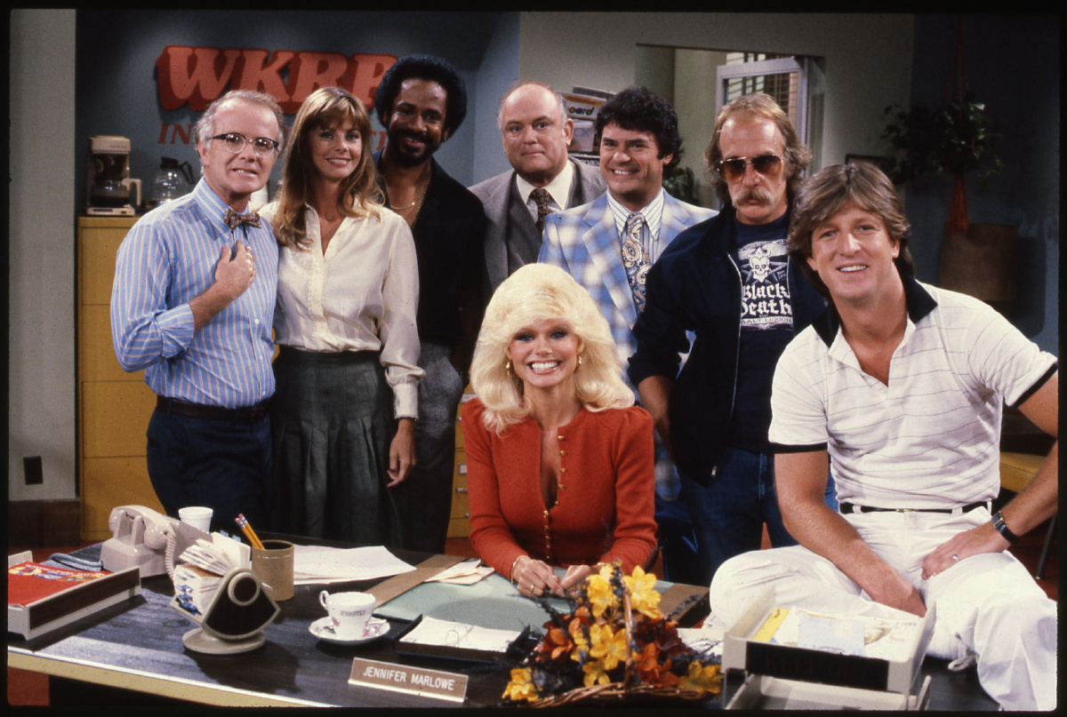 Subject: WKRP in Cincinnati On 2014-10-24, at 4:57 PM, Fowler, Tanis wrote: After years of struggling to secure musical rights, WKRP in Cincinnati finally gets the complete series treatment from classic TV specialists Shout! Factory. The show arrives Oct. 28 as a 13-DVD box set. Starring, from left, Richard Sanders, Jan Smithers, Tim Reid, Gordon Jump, Frank Bonner, Howard Hesseman, Gary Sandy and Loni Anderson, the sitcom about an AM radio station ran for four seasons and 90 episodes from 1978 to 1982. WKRP2.jpg WKRP3.jpg WKRPCOVER.jpg