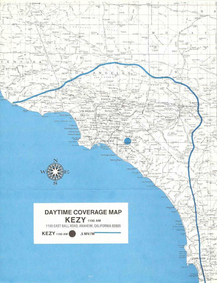 KEZY map