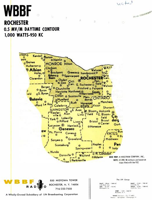 WBBF 950 Coverage Map