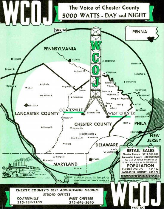 WCOJ 1420 Coatsville Coverage Map