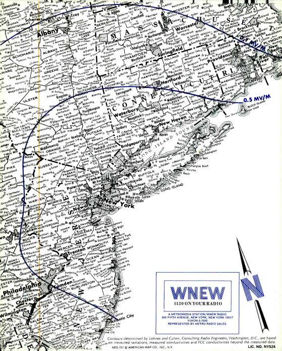 WNEW 1130 New York Coverage Map