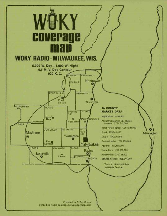 WOKY 920 Milwaukee Coverage Map