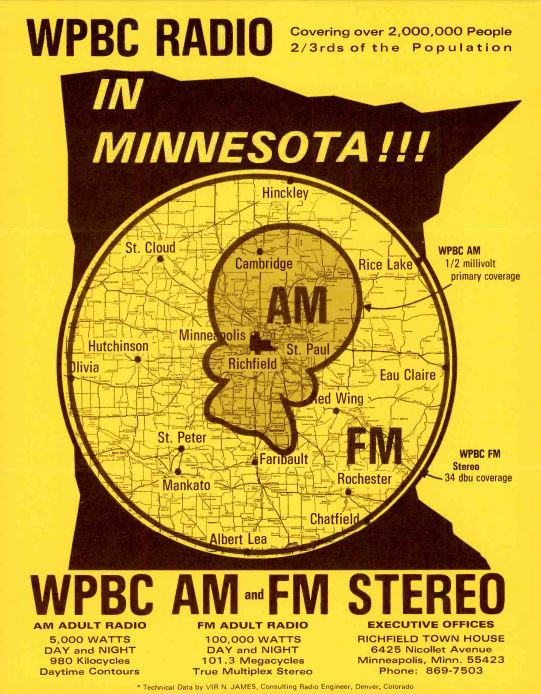 WPBC Minneapolis Coverage Map
