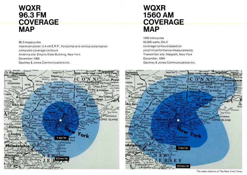 WQXR Coverage Map