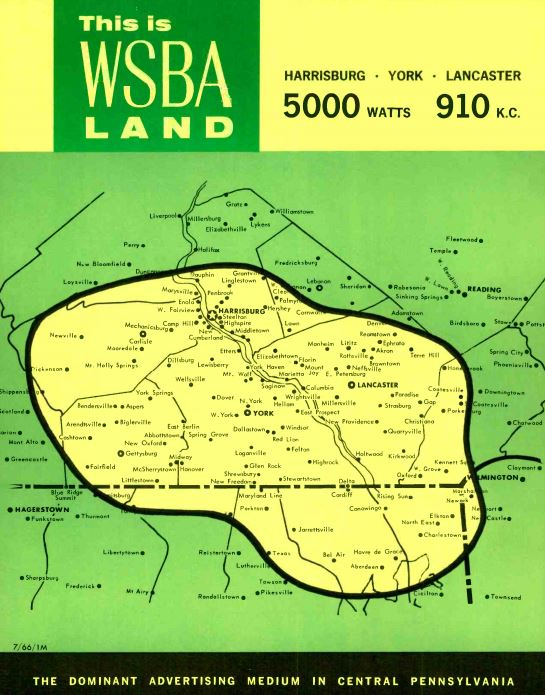 WSBA 910 York Coverage Map