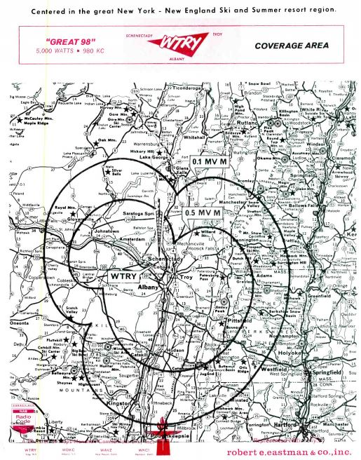 WTRY 980 Troy Coverage Map